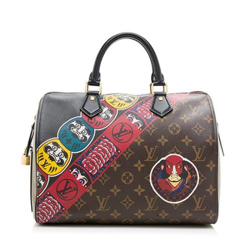 Louis Vuitton Limited Edition Le Kabuki Speedy 30 Satchel