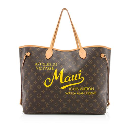 Louis Vuitton Limited Edition Monogram Canvas Maui Neverfull GM Tote