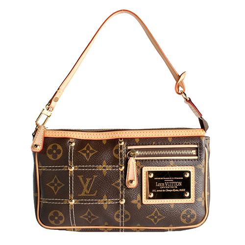 Louis Vuitton Limited Edition Monogram Canvas Rivet Pochette Accessoires Handbag
