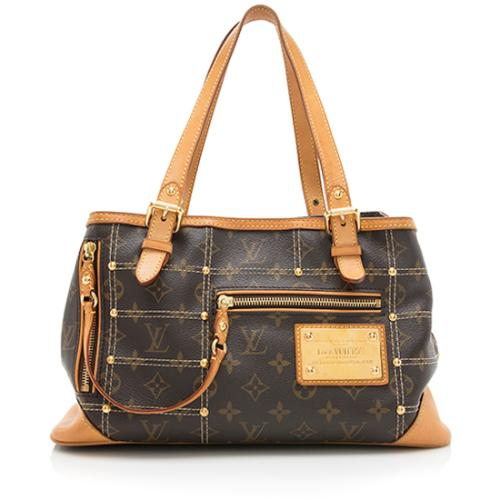Louis Vuitton Limited Edition Monogram Canvas Riveting Satchel