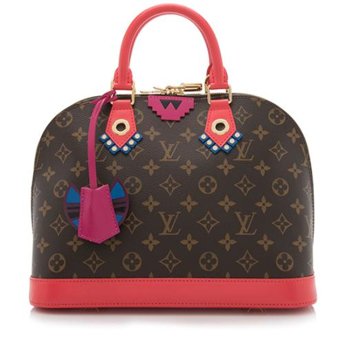 Louis Vuitton Limited Edition Monogram Canvas Totem Alma PM Satchel