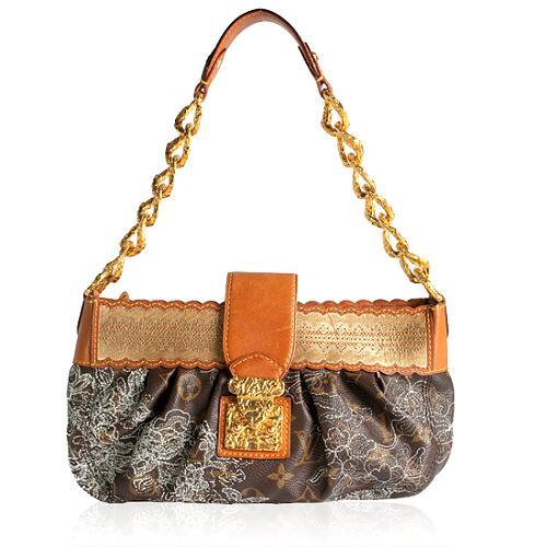Louis Vuitton Limited Edition Monogram Dentelle Kirsten Shoulder Handbag