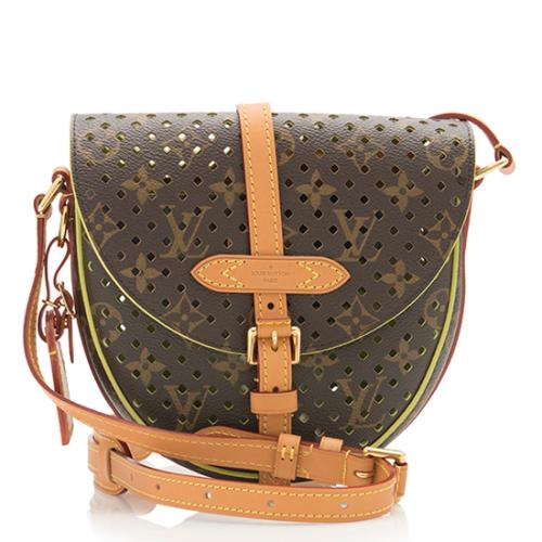Louis Vuitton Limited Edition Monogram Perforated Flore Chantilly Shoulder  Bag