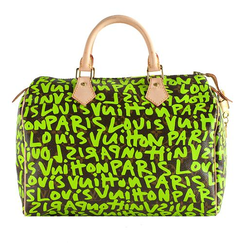c7b76a6889db Louis-Vuitton-Limited-Edition-Monogram-Graffiti-Speedy-30 -Satchel-Handbag 49938 front large 1.jpg