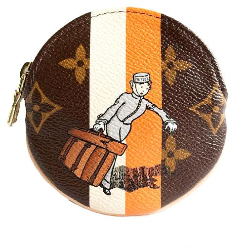 Louis Vuitton Limited Edition Monogram Groom Porte Monnaie Rond Coin Wallet