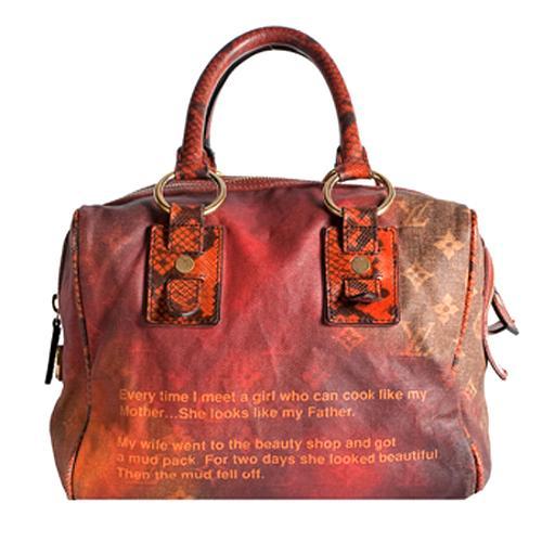 Louis Vuitton Limited Edition Monogram Jokes Mancrazy Satchel Handbag