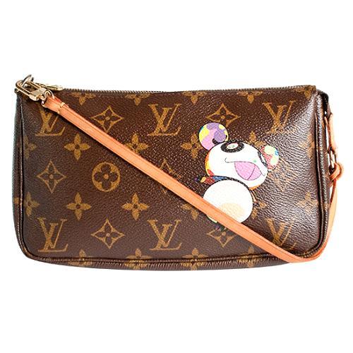 Louis Vuitton Limited Edition Monogram Panda Pochette Accessoires Handbag