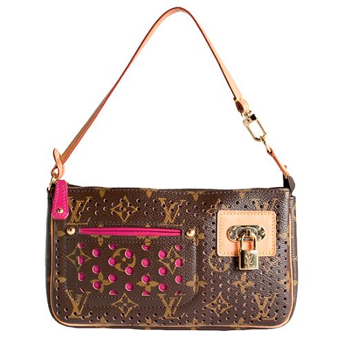 Louis Vuitton Limited Edition Monogram Perforated Pochette Handbag