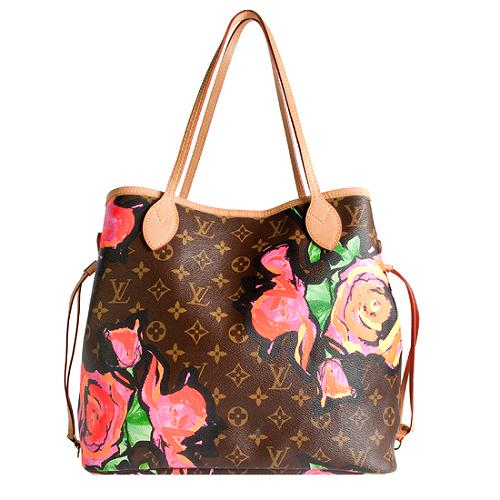Louis Vuitton Limited Edition Monogram Roses Neverfull MM Tote