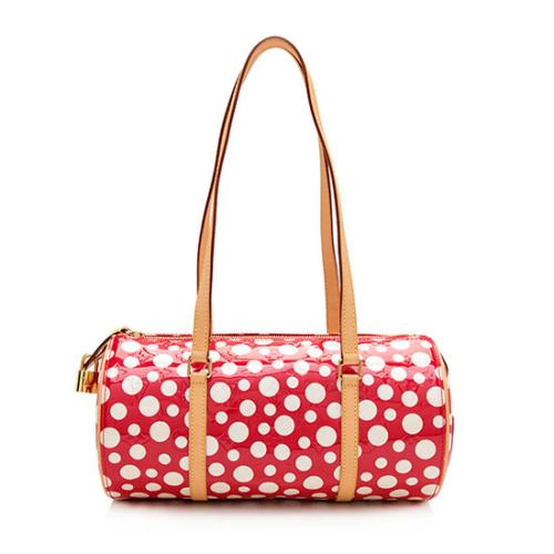 Louis Vuitton Limited Edition Monogram Vernis Dots Infinity Papillon Satchel
