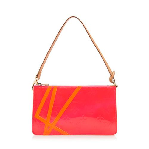 Louis Vuitton Limited Edition Monogram Vernis Fluo Lexington Clutch