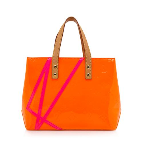 Louis Vuitton Limited Edition Monogram Vernis Fluo Reade PM Tote