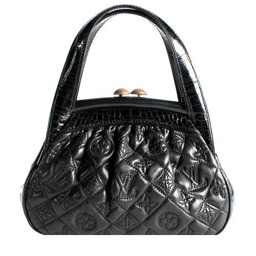Louis Vuitton Limited Edition Monogram Vienna Alligator Sac Fermoir PM Handbag