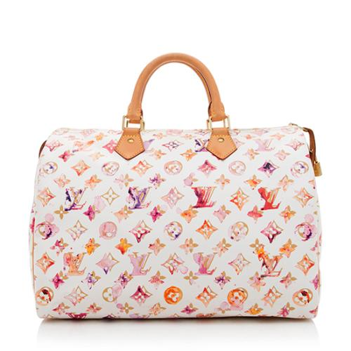 91ef8f8b9e50 Louis-Vuitton-Limited-Edition-Monogram-Watercolor-Speedy -35-Satchel 83618 front large 0.jpg