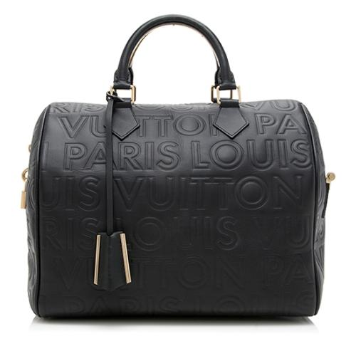 Louis Vuitton Limited Edition Paris Speedy Cube 30 Satchel