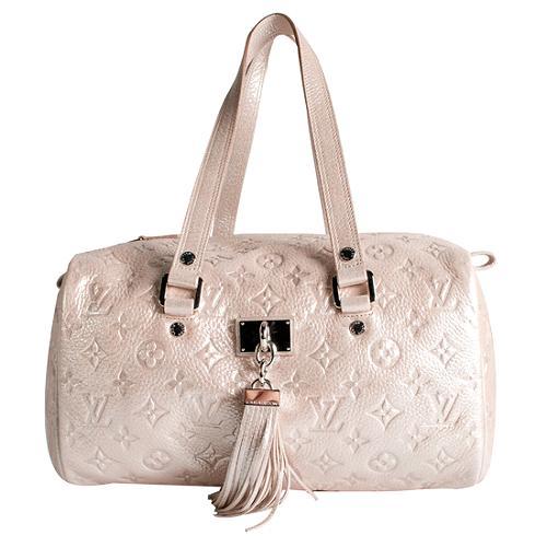 Louis Vuitton Limited Edition Peach Monogram Shimmer Comete Satchel Handbag