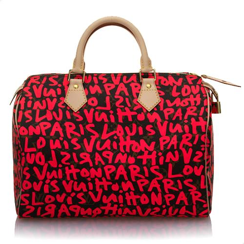 Louis Vuitton Limited Edition Speedy Graffiti Handbag