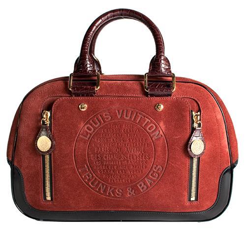 Louis Vuitton Limited Edition Stamped Trunk GM Satchel Handbag