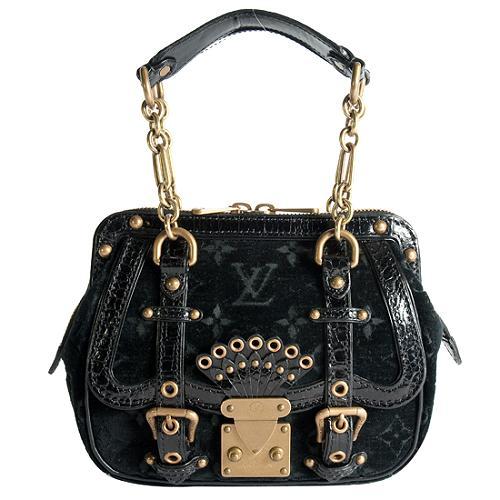 Louis Vuitton Limited Edition Velours Alligator Gracie PM Satchel Handbag