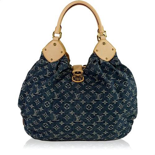 Louis Vuitton Limited Edition XLarge Denim Hobo Handbag