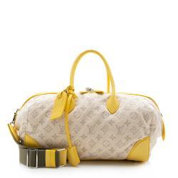 Louis Vuitton Limited Edition Yellow Monogram Denim Speedy Round Bag
