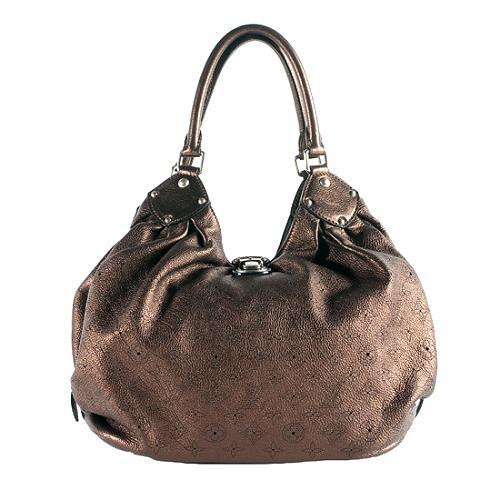 Louis Vuitton Mahina Leather L Hobo Handbag