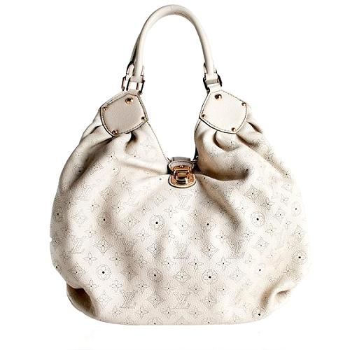 Louis Vuitton Mahina XLarge Leather Hobo Handbag