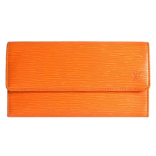 Louis Vuitton Mandarin Epi Leather Porte Tresor International Wallet