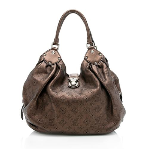 Louis Vuitton Metallic Mahina Leather L Hobo