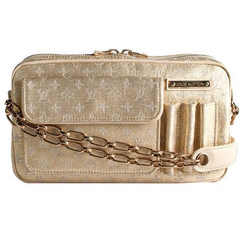 Louis Vuitton Mini Lin Shine McKenna Shoulder Handbag