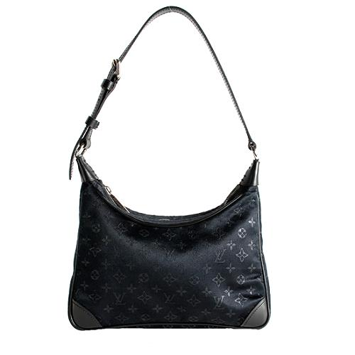 Louis Vuitton Mini Monogram Boulogne Evening Satin Shoulder Handbag