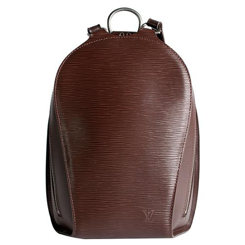 Louis Vuitton Moka Epi Leather Mabillon Backpack