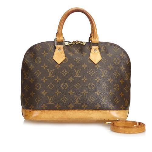 Louis Vuitton Monogram Alma PM Satchel with Strap