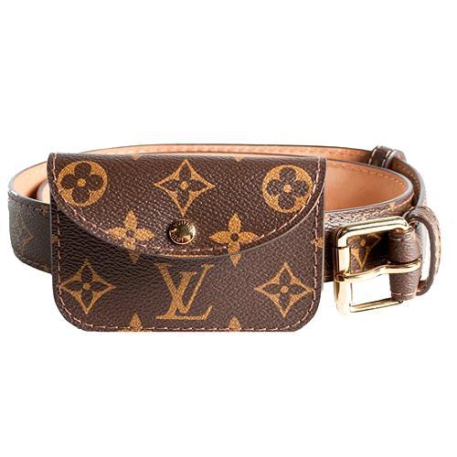 Louis Vuitton Monogram Canvas 80cm Pochette Solo Belt