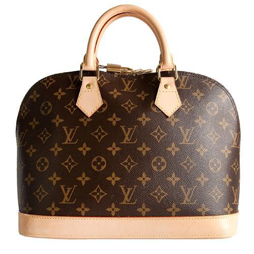 Louis Vuitton Monogram Canvas Alma Satchel Handbag - FINAL SALE