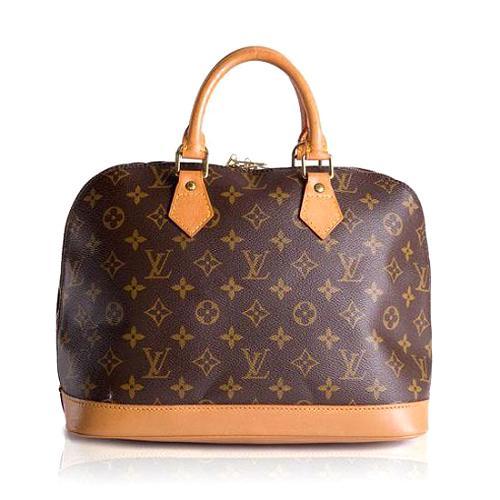 Louis Vuitton Monogram Canvas Alma Satchel Handbag