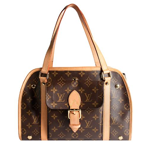 1029f660f524 Louis-Vuitton-Monogram-Canvas-Baxter-Dog-Carrier -PM-Tote 40040 front large 1.jpg