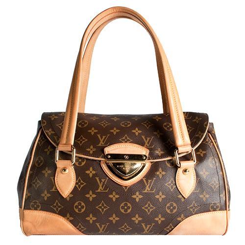 Louis Vuitton Monogram Canvas Beverly GM Satchel Handbag