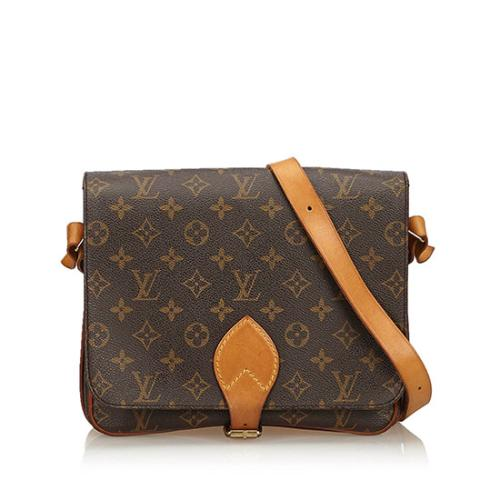 Louis Vuitton Vintage Monogram Canvas Cartouchiere GM Shoulder Bag