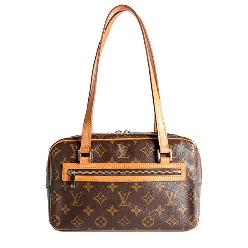 Louis Vuitton Monogram Canvas Cite MM Shoulder Handbag