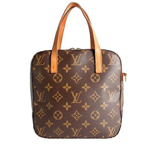 Louis Vuitton Monogram Canvas Cosmetic Travel Spontini Satchel Handbag