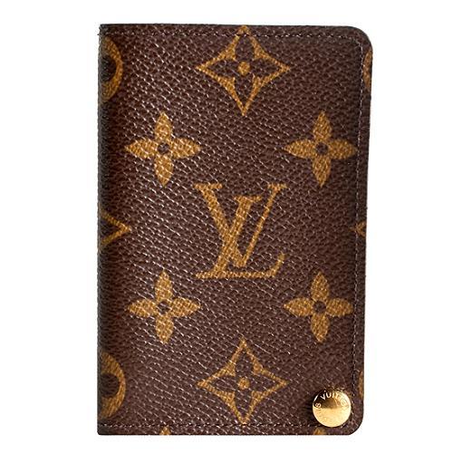 Louis Vuitton Monogram Canvas Credit Card Holder Wallet