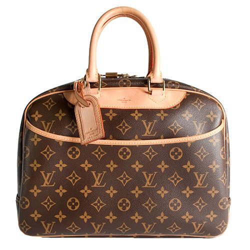 Louis Vuitton Monogram Canvas Deauville Satchel Handbag