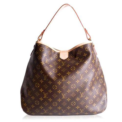 Louis Vuitton Monogram Canvas Delightful MM Shoulder Handbag