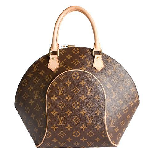 Louis Vuitton Monogram Canvas Ellipse MM Satchel Handbag