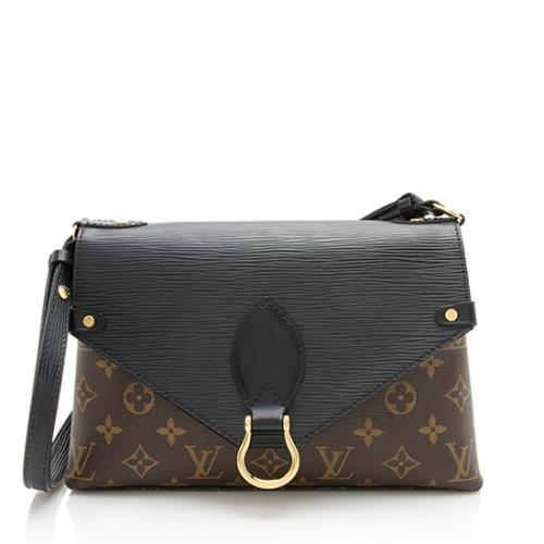Louis Vuitton Monogram Canvas Epi Leather Saint Michel Shoulder Bag