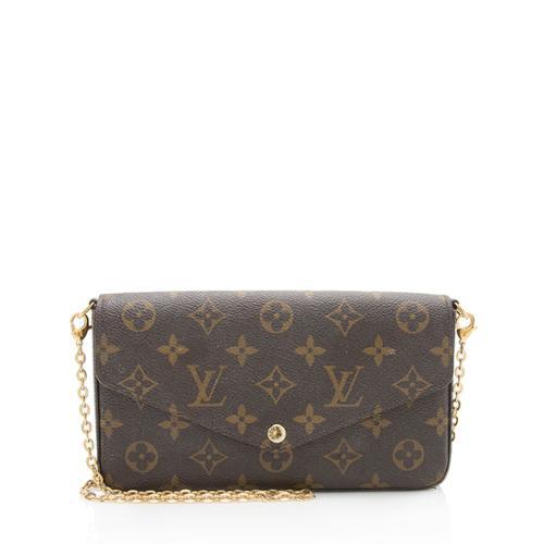 Louis Vuitton Monogram Canvas Felicie Wallet On Chain Bag