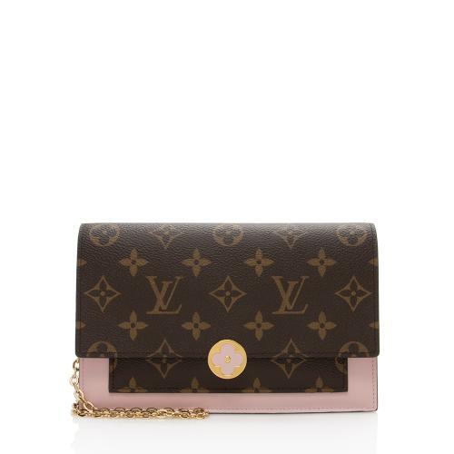 Louis Vuitton Monogram Canvas Flore Chain Wallet