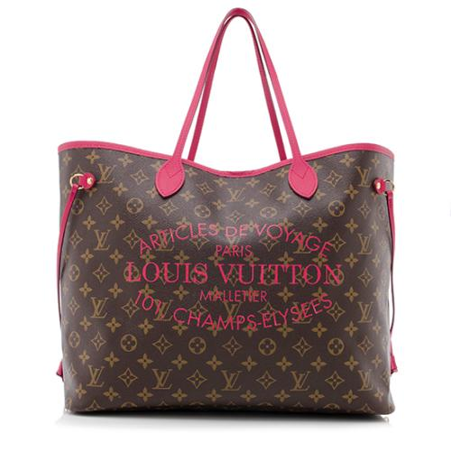 Louis Vuitton Limited Edition Monogram Canvas Ikat Neverfull GM Tote