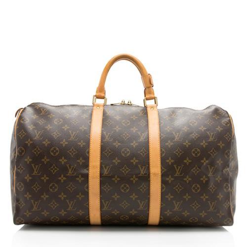 Louis Vuitton Monogram Canvas Keepall 50 Duffel Bag